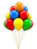 Red ballon for party, birthday — Foto de Stock