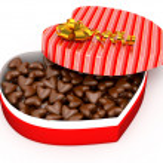 Box for Valentine's present — Stock Photo