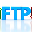 Постер, плакат: Illustration of FTP File transfer Protocol