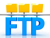 Illustration of FTP ( File transfer Protocol ) — Stock Photo