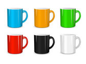 Realistic set of cups. Vector illustration — Stock Vector