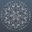 Ornamental round lace, flower. vector — Vector de stock
