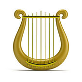 Golden harp — Stock Photo