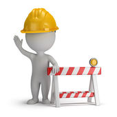 3d small - under construction — Stock Photo