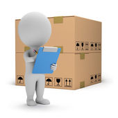 3d small - warehouse services — Stock Photo