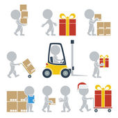 Flat people - shipping — Stock Vector