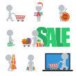 Flat people - sale — Stock Vector