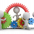 3d small people - team mechanism — Stock Photo #40946461