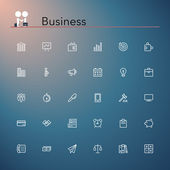 Business Line Icons — Stock Vector