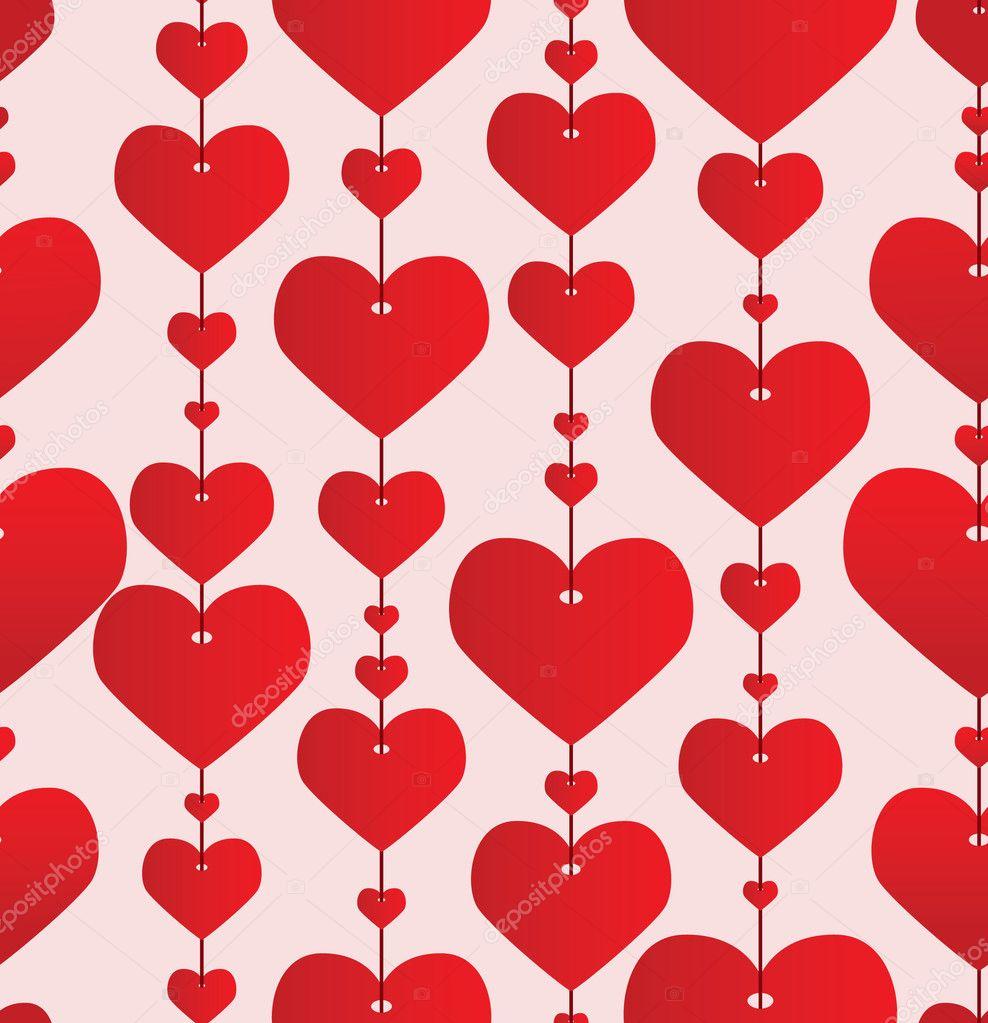 情人节红色背景.矢量图