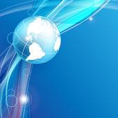 Sfondo vettoriale blu con un globo. eps10 — Vettoriale Stock