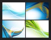Sada šablon barevné moderní vektorové — Stock vektor