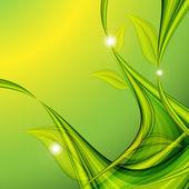 Abstraktní květinové letní šablona — Stock vektor