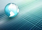 World techno backdrop — Stock Vector