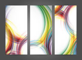 Colorful vector rainbow backdrops — Stock Vector