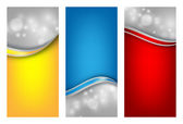 Colorful vector templates set — Stockvektor