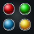 Colorful vector web buttons set — Stock Vector