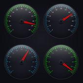 Vector speedometers set. Eps10 — Stock Vector