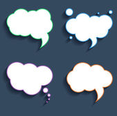 Vector blank empty speech bubbles set — 图库矢量图片
