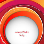 Vector abstract background with colorful layers — Stock Vector