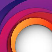 Vektorové pozadí abstraktní s barevnými vrstvami — Stock vektor