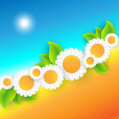 Vector abstract summer time background — Stock vektor