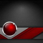Vector background with metallic texture — Stock Vector