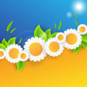 Vector abstract summer time background — 图库矢量图片