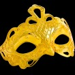 Beautiful image of a gold carnival mask - Photo