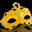 Beautiful image of a gold carnival mask - Foto Stock