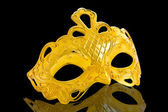 Beautiful image of a gold carnival mask — Stock Photo