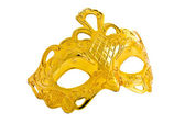 Beautiful image of a gold carnival mask — Stock Photo