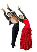 Image of passionate dancing pair of man and woman — Stock Photo