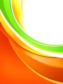 在白色背景上的动态彩色的条纹 — 图库照片
