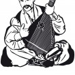 Постер, плакат: Cossack Playing A Musical Instrument Kobza