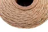 Image background coil of hemp thread — Stock Photo