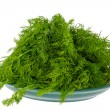 Seasoning green dill on a plate — Foto Stock