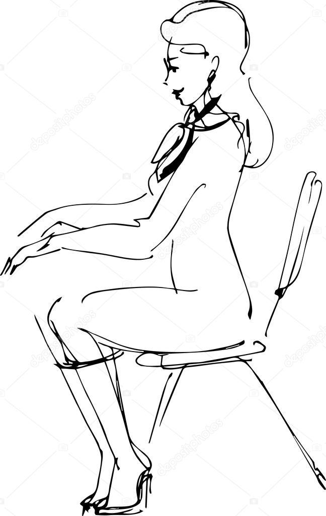 сидят на лице рисунки
