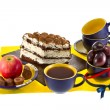 Still Life sweets and tea — Stockfoto