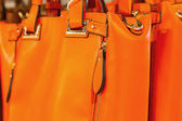 Preview zipper clasp on the orange bag  — Stock Photo