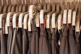 Preview ladies skirts hanging on display  — Stock Photo