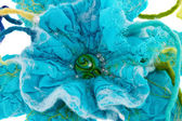 Marine blue flower made from wool  — Stock Photo