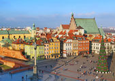 Castle square, Warsaw, Poland — Foto Stock
