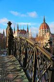 Imre Nagy statue in Budapest — Stock Photo
