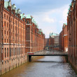 Speicherstadt warehouse district of Hamburg - Stock Photo
