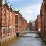 Speicherstadt warehouse district of Hamburg — Stock Photo #12479715