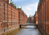 Speicherstadt warehouse district of Hamburg — Stock Photo