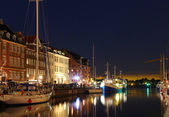 Nyhavn, kodaň, dánsko — Stock fotografie
