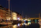 Nyhavn, kopenhagen, dänemark — Stockfoto