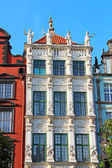 Buildings on Long Market street in Gdansk — Stock Photo